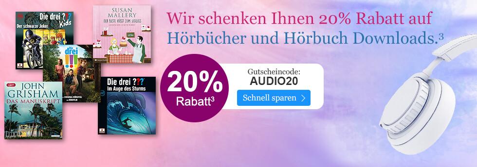 20% Rabatt auf alle Hörbücher mir Ihrem Gutschein AUDIO20 bei eBook.de