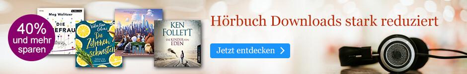 Hörbuch Downloads reduziert bei eBook.de