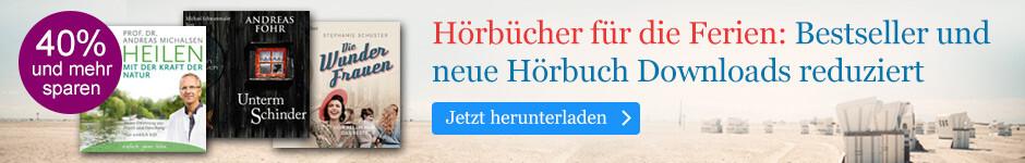 Hörbücher für die Ferien: Bestseller und neue Hörbuch Downloads für die Ferien bei eBook.de