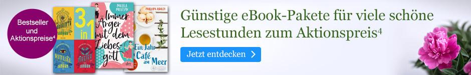Günstige eBook Pakete für viele schöne Lesestunden bei eBook.de: Neuheiten, Bestseller und eBook-Pakete zum Aktionspreis