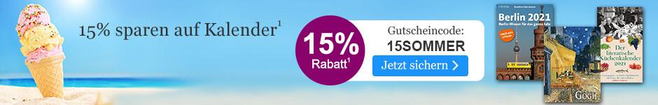 15% sparen auf Kalender bei eBook.de mit dem Gutschein 15SOMMER