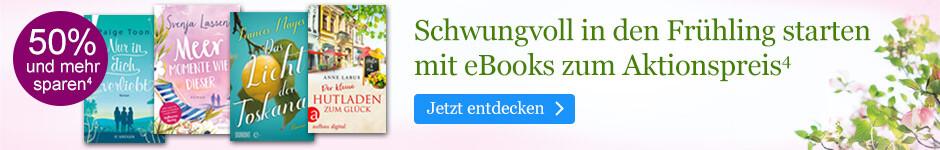 Schwungvoll in den Frühling starten mit eBooks zum Aktionspreis bei eBook.de