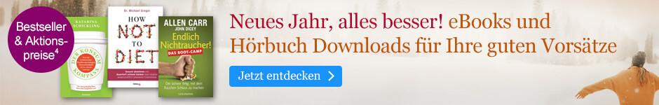 Neues Jahr, alles besser! eBooks für Ihre guten Vorsätze stark reduziert bei eBook.de