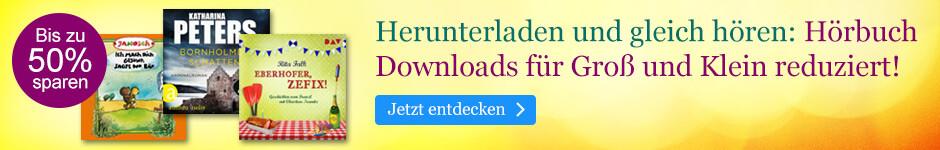 Hörbuch Downloads für Groß und Klein reduziert bei eBook.de