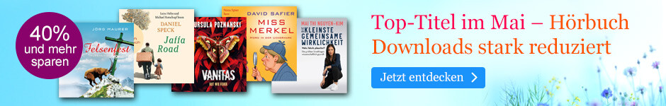 Top-Titel im Mai - Hörbuch Downloads reduziert bei eBook.de