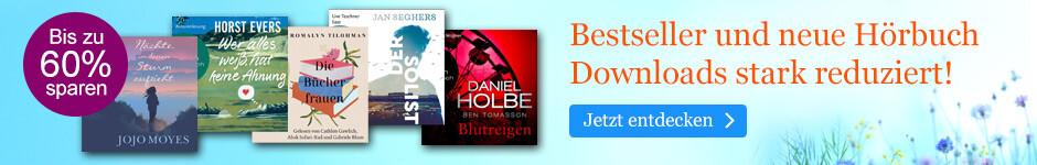 Bestseller und neue Hörbuch Downloads reduziert bei eBook.de