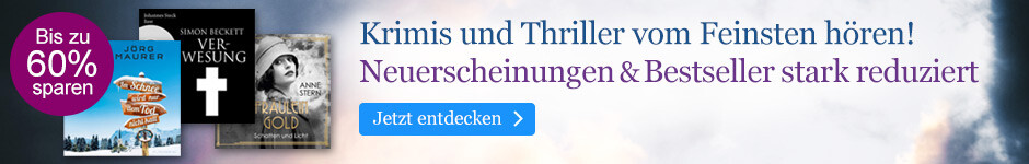 Krimi  & Thriller Hörbuch Downloads reduziert bei eBook.de