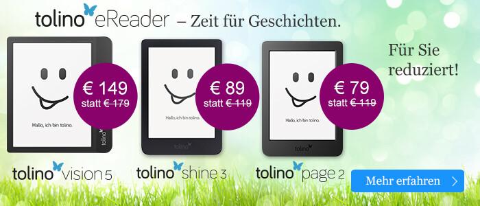 tolino eReader - die neue Generation bei eBook.de - jetzt zu günstigen Preisen